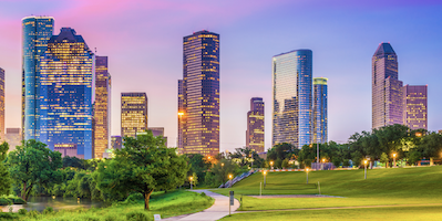 Houston Center skyline