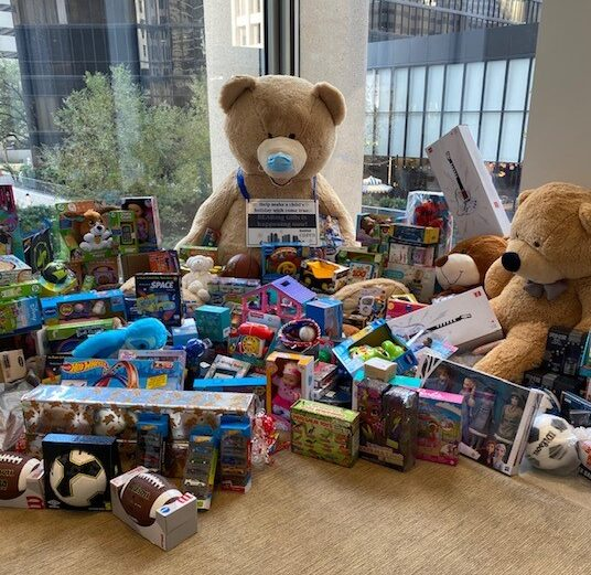 Wrapping up a wonderful 2020 BEARing Gifts Toy Drive